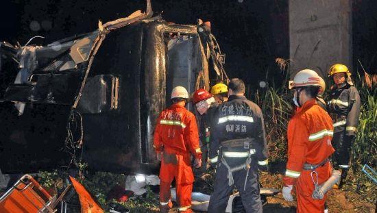 厦门客车宁德坠谷已致17人死