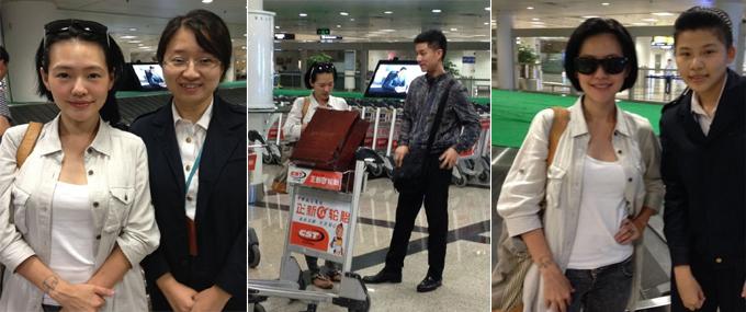 小S和老公17日晚抵达厦门机场 粉丝晒合照