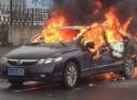 上海车主烧毁自己本田车声援保钓
