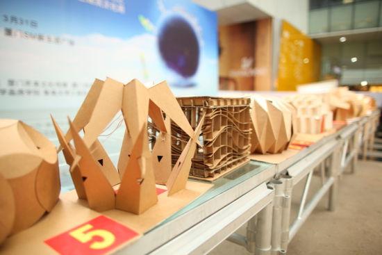 参赛者构筑的微型模型供评委参考打分图片