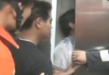 实拍云南一患者乘电梯踏空坠亡现场
