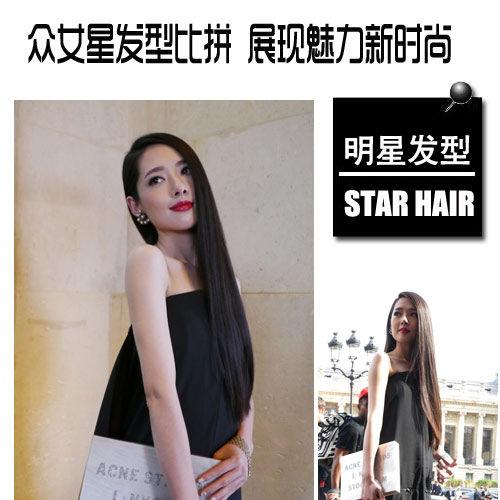 郭碧婷发型   长发及腰已经是国民女神郭碧婷的