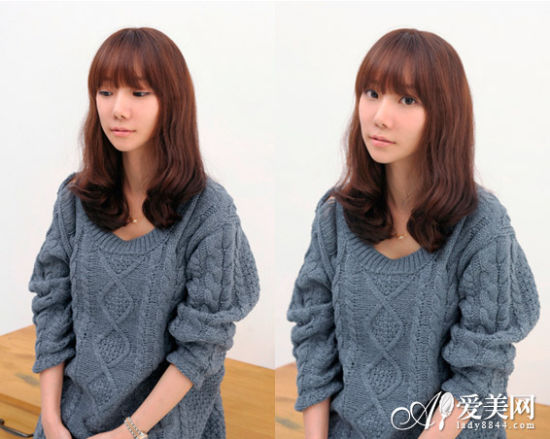 style6:碎刘海蛋卷头