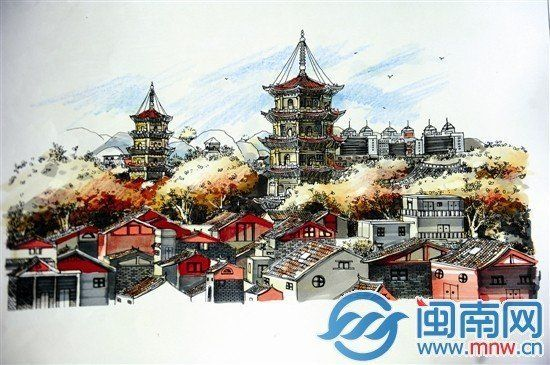 手绘勾勒小清新闽南韵