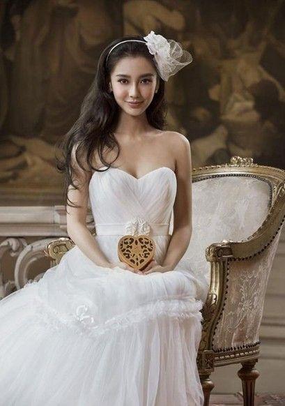 杨颖婚纱手绘图