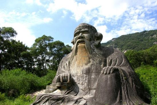 目前不但是中国最大的古代道教石造像,还是中国最成功得老子石造像,因