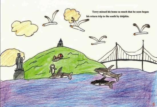 3年级保护动物绘画