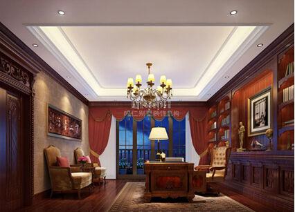 别墅设计空间改造说明:   改造前空间缺陷:功能格局不清晰,空间动线不合理,风水重新规划。   改造后空间变化:客厅、门厅、厨房、起居室以开放式格局连贯,开放式的轴线模式增强了空间的通透性,让人感受到室内外空间相互融合的乐趣,活跃了空间气氛。地下室以休闲室为中心向四周延展,增强了功能性。整体空间大气、沉稳,效果完整统一。   别墅设计说明:   业主在别墅装饰风格的定位上,要求能够呈现出大气、沉稳的感觉。在功能空间规划时,要求有视听室、SPA室和高尔夫球室。鸣仁装饰设计师以美式乡村风格为基调,满足业主