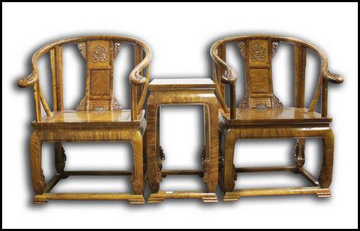 上海君道:金丝楠木圈椅
