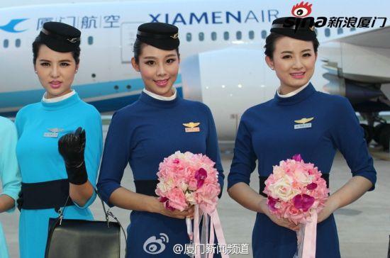 厦航空乘新制服亮相 设计师曾与王菲林志玲合作