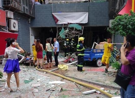 厦门福园公寓爆炸 系店面内煤气瓶爆炸