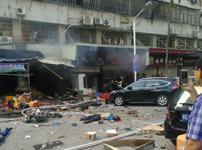 爆炸确切地点:厦门市政设计院对面的味味川菜
