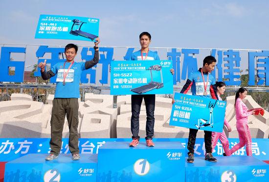 男子前三名获奖人员