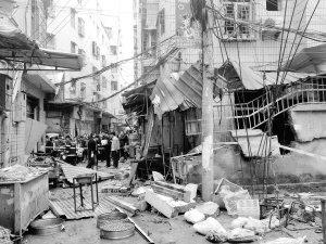 林后社包子铺煤气罐爆炸 民宅成废墟波及四五米