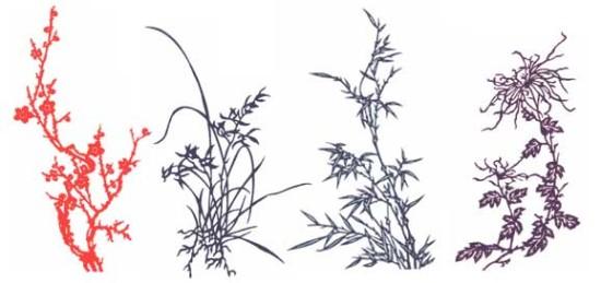 关于花树剪纸图片