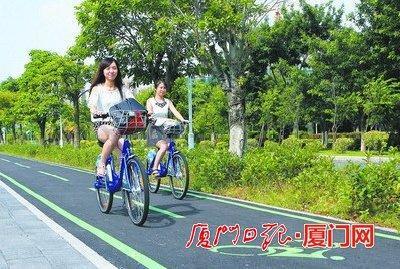 厦门岛内公共自行车办卡885张 骑行超4700次