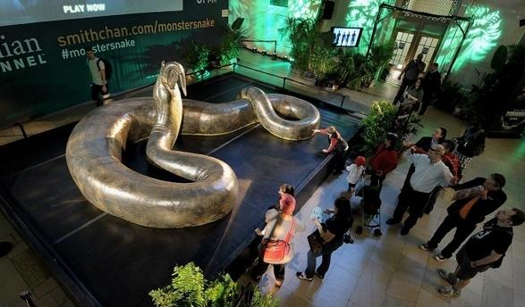 科学家复原超级史前巨蟒:15米长重1吨吞鳄鱼
