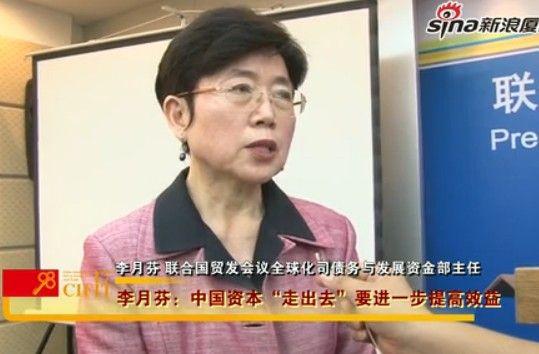 """联合国贸发会议李月芬:中国资本""""走出去""""应再增效益"""