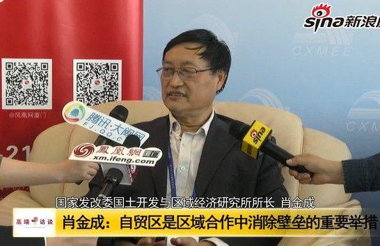 肖金成:两岸自贸区是消除壁垒的重要举措