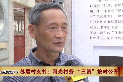 苏颂文化节开幕 苏厝村支书采访视频