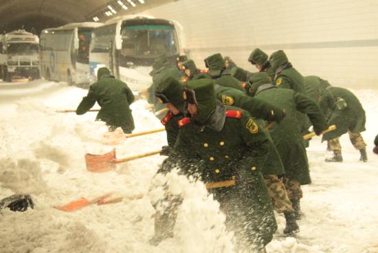北京突降大雪