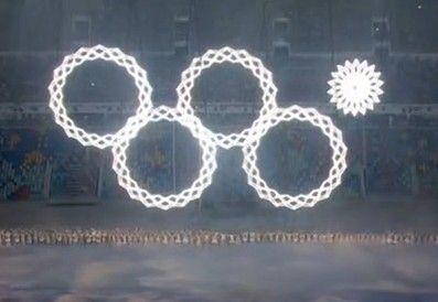索契冬奥开幕式惊现雷人故障 奥运五环变四环