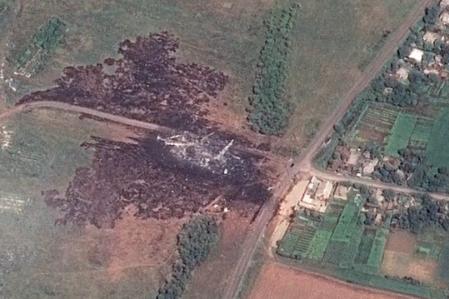 马航MH17空难卫星图曝光