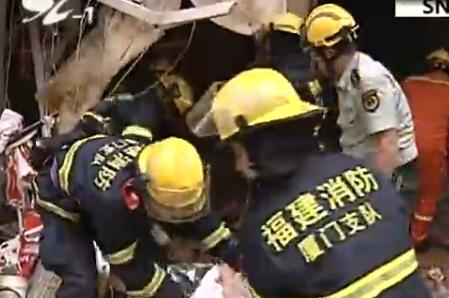 厦门SM附近发生爆炸 由于坍塌严重救援困难