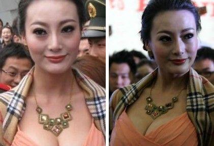 成人片巨胸女星王李丹妮赴车展引发混乱