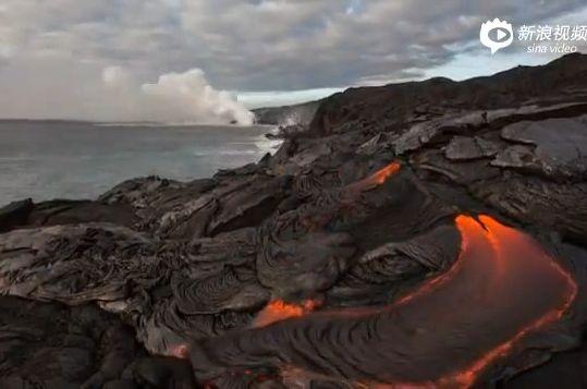 震撼延时摄影 实拍夏威夷火山喷发